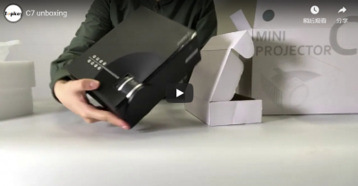 C7 Portable Home Projector Unboxing
